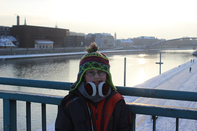 Bundling Up in Krakow, Poland